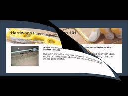 engineered hardwood floor nail down installation is the easiest