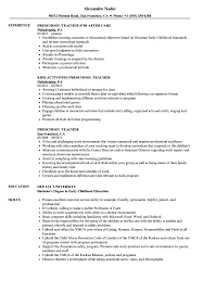 Download Preschool Teacher Resume Sample As Image File