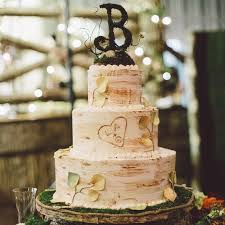 Aspen Birch Tree Cake With Monogram