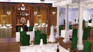 first class dining room d deck titanic sims youtube