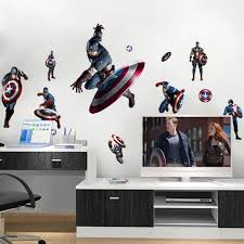 captain america shield defense avengers wall decal stickers peel