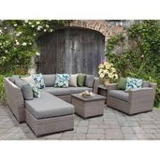 tidewater 6pc wicker modular seating set boscov s patio