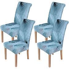 homaxy stretch stuhlhussen blumen universal hussen für stuhl esszimmer waschbare stuhlbezüge 4 stück style 3