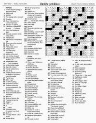 the new york times crossword in gothic june 2014
