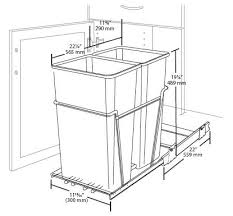 Under Cabinet Trash Can Pull Out by Double Pull Out Waste Containers Rta Cabinet Store