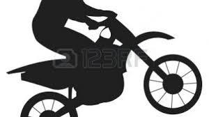 Bold And Modern Dirt Bike Clipart Black White Easy