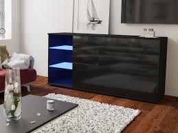bona kommode sideboard glas regale schubladen led weiß schwarz sonoma hochglanz 160 cm esa home