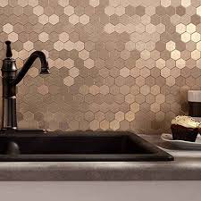 Copper Tiles For Backsplash by 36 Eye Catchy Hexagon Tile Ideas For Kitchens Digsdigs
