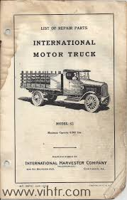 100 Vintage International Harvester Truck Parts Book Library Veteran Registry
