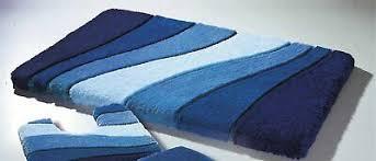 meusch badteppich blau 60x100cm teppich vorleger badvorleger
