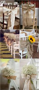Counrty Rustic Wedding Chair Decorations With Burlap
