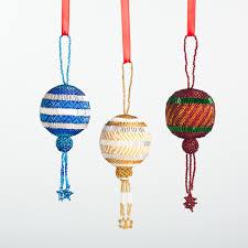 HandBeaded Fair Trade Guatemalan Christmas Ornament Round Ball