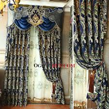 Gold And White Blackout Curtains by Catchy Royal Blue Curtains And Victorian Royal Blue Chenille