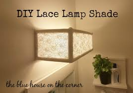 DIY Lace Lamp Shade The Blue House On Corner