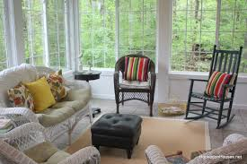 Furniture Sunroom With Wooden Chair And Rattan Sofa