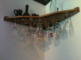 Under Cabinet Stemware Rack by 18 Wine Glass Rack Corner Mount Stemware Holder Oak 120
