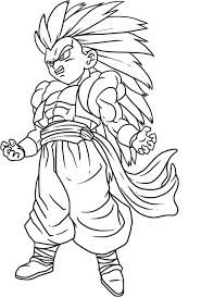 Gohan Super Saiyan Dragon Ball Z Coloring Pages