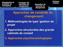 cabinet de conseil conduite du changement méthodes de conduite du changement en entreprise ppt