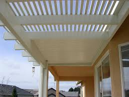 Alumawood Patio Covers Phoenix by Alumawood Lattice And Solid Combo Patio Cover In White Greenbee