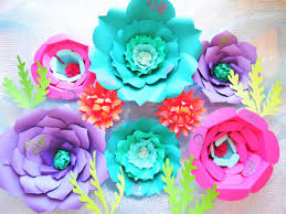 Giant DIY Paper Flowers Large Backdrop Under The Sea