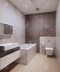 zeitgenössische wc idee dekorative betonreibeputz weiß gefärbt möbel weiße decke mit modernen len und marmorböden großen fliesen 3d