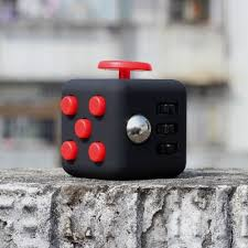 Black Fidget Cube Anxiety Stress Relief Focus Gift Adults Kids Attention Therapy