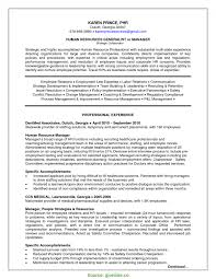 Useful Senior Hr Generalist Resume Sample For Study Human Resources Pd 2921