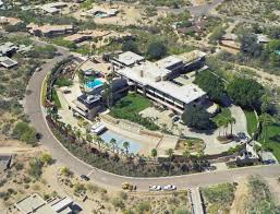 100 Portabello Estate Corona Del Mar Aerial View Walker McCune Mansion Paradise Valley Arizona The