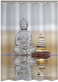 whitelotous 3d buddha druck vorhang für die dusche