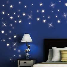 wandtattoo loft 40 stück nachtleuchtende sterne und punkte für einen tollen sternenhimmel in kinderzimmer oder schlafzimmer fluoreszierend