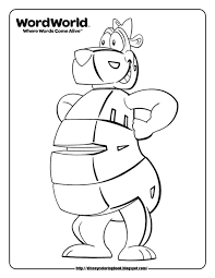 Word World Coloring Pages Bear Copy And Paste This