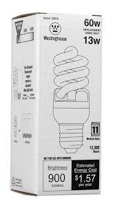 13 watt replaces 60 watt mini twist cfl light bulb energy