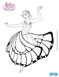 Barbie Mariposa Coloring Pages To Print