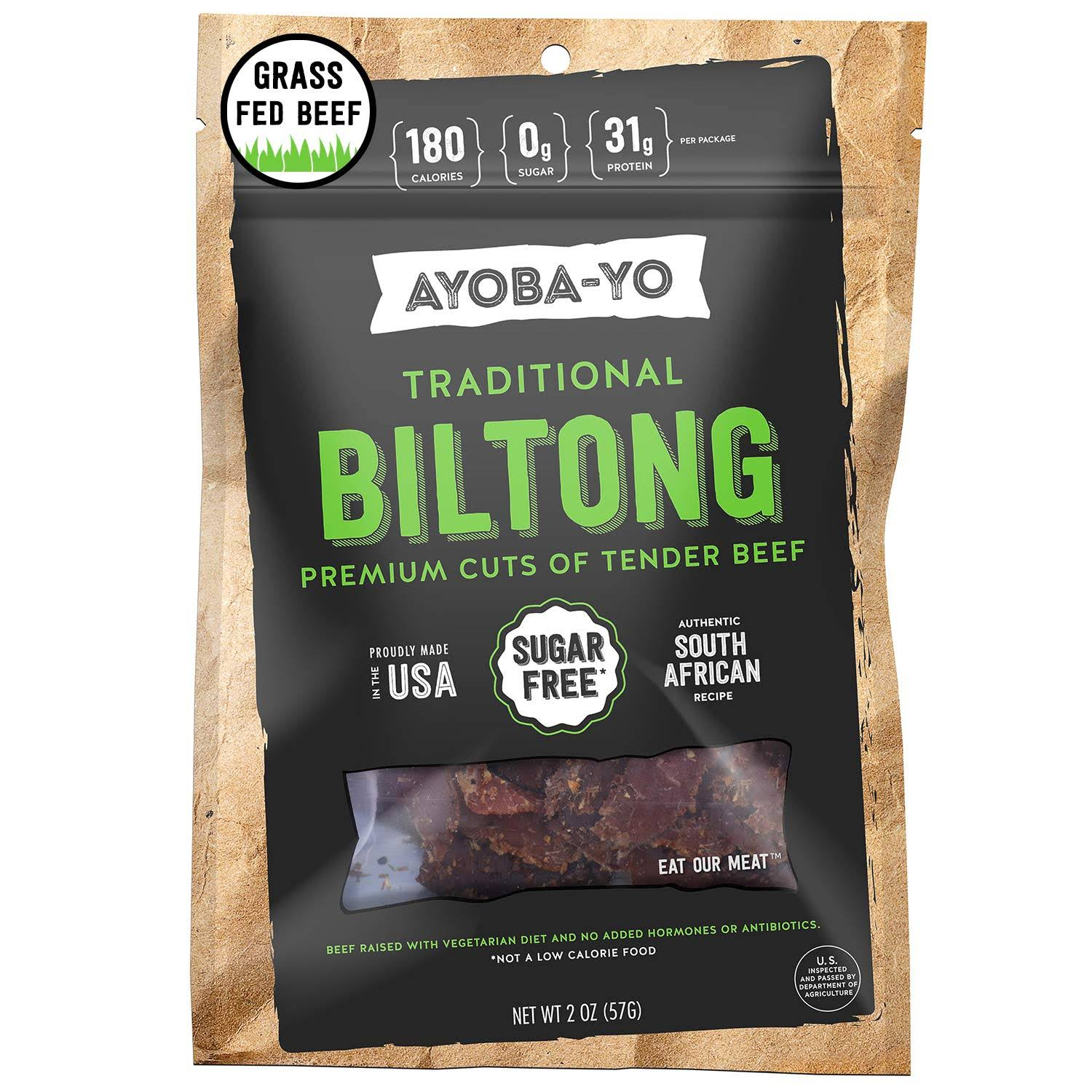 Ayoba Yo Biltong, Traditional - 2 oz