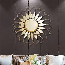 moderne schmiedeeisen sonne form dekorative spiegel