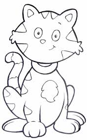 This Is Tab The Kitty Cat Coloring Page Kids Play Color