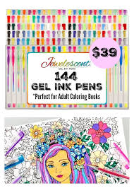 Ultimate Art Set 144 Gel Pens For Adult Coloring Books More