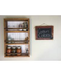 Farmhouse Shelves Spice Rack Kitchen Style Decor Mason Jar