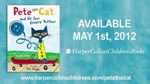 pete the cat books pete the cat his four groovy buttons book trailer