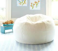 White Beanbag Chair Fur Bean Bag