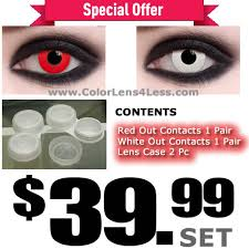 Halloween Contacts Non Prescription Fda Approved by Red White Case U003dus 39 99 Red Contacts U0026 White Contacts U0026 Dual