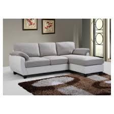 canap bicolore envie de meubles canapé d angle ruby bicolore gris et blanc achat