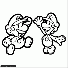 Spectacular Super Mario Coloring Pages To Print With And Luigi Baby