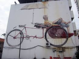 Famous Street Mural Artists by Where To Find The Street Art In Georgetown Penang Map