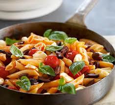 cuisine pasta tomato and mozzarella penne healthy food guide