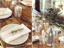 Image Of Rustic Table Decorations For A Wedding