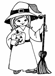 Download Halloween Witch Coloring Page Print