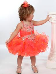 2016 new custom made pomegranate baby girls pageant dresses cute
