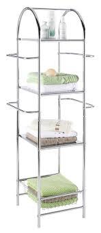 badezimmerregal allzweck mit handtuchhalter chrom 55x132cm