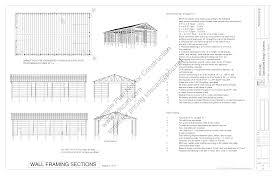 pleasant design ideas 12 pole building plans free barn homeca